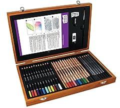 Idea Regalo - DERWENT Academy 2300147- Set colori arte in scatola di legno