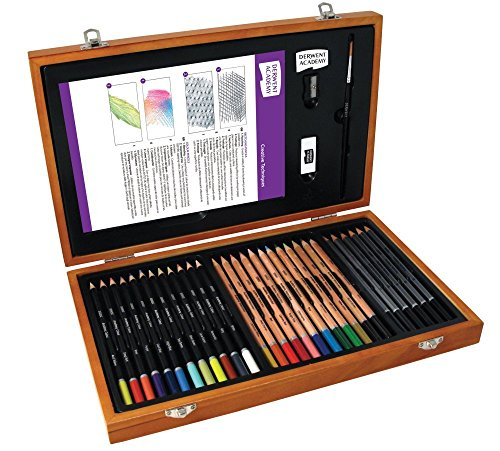 Derwent Academy 2300147 Colouring Pencils and Graphite Pencils Art Supplies Set of 30 Pencils and 5 Accessories