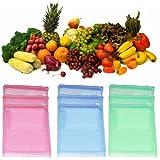 Ketsaal (Pack Of 12) Multi-purpose Vegetables Fruits Mesh Fridge Storage Washable Zip Bags.