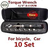 mabelstar Top Qualität Xite 1/10,2cm Antrieb 10Sets Drehmomentschlüssel 2–14Nm Fahrrad Bike Tool Kit Set Fahrrad Reparatur Werkzeug