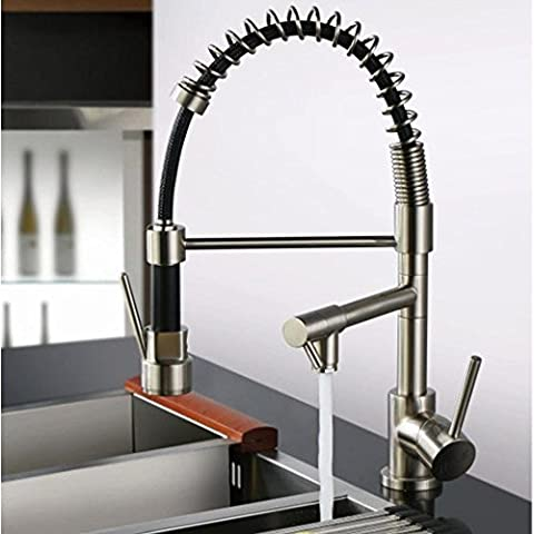 Modern brass chrome-plated screw-type hot and cold water kitchen sink faucet