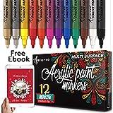 Artistro Dauerhafte Farbe Stifte für Glasmalerei, Keramik, Porzellan, Stein, Holz, Stoff, Leinwand