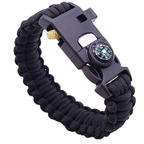 cicadi Outdoor Multifunction Survival Bracelet Flint Whistle Multi-purpose Fishing Gear