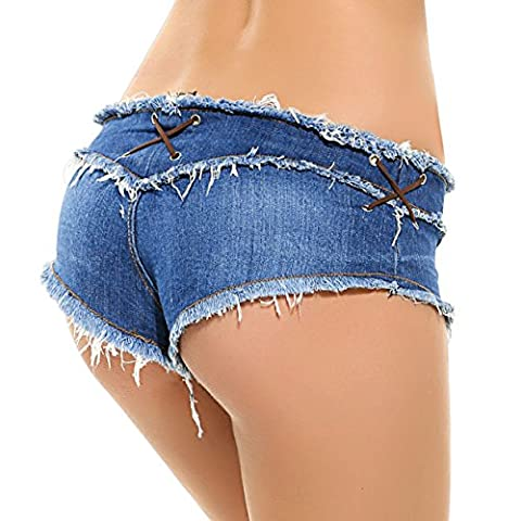 Jeans Shorts High Waist Ultra Stretch Short Pants