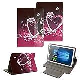 NAUC Tablet Tasche für Acer Iconia One 10 B3-A40 Hülle Schutzhülle Case Schutz Cover, Farben:Motiv 7