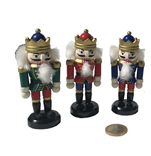 Holz Nussknacker 8cm Soldaten König Dekoration Figuren König Soldat Weihnachtsdekoration Weihnachtsschmuck Advent von MEIERLE & Söhne (Nussknacker Dekoration)