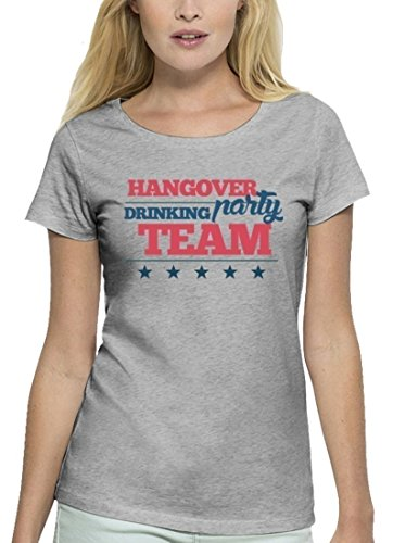Junggesellenabschieds JGA Hochzeit Damen T-Shirt aus Bio Baumwolle Hangover Party Drinking Team Heather Grey