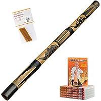 Australian Treasures Didgeridoo ''carved'' + bijenwas + DVD