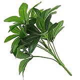 LamicAR1 Pc 9 têtes de Plantes artificielles en Plastique pour Le Lierre et l'écorce, Le Bureau, la fête, la Maison Bonsaï – Vert