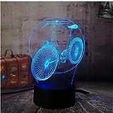 3D LED Nachtlicht Neuheit Led 3D Rgb Nachtlicht Fahrrad Fahrrad Multicolor 7 Farbwechsel Remote Tischlampe Usb Für Kind Weihnachtsgeschenk Decro Lava