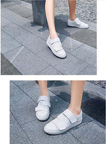 NobS Cuir Chaussures Casual Mocassins Flats Sabots Mules Femmes Chaussures White