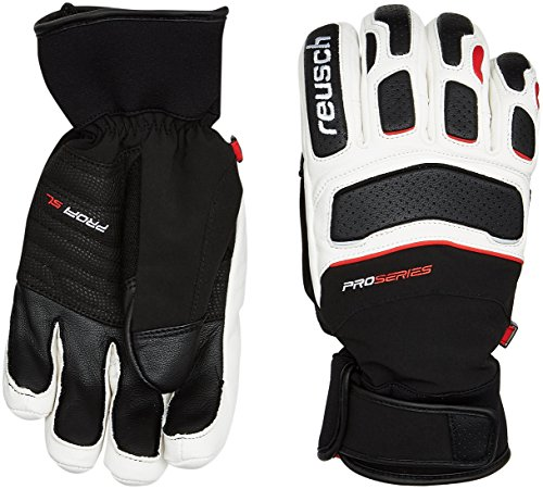 Reusch Herren Profi SL Handschuhe, Black/White/Fire Red, 9.5