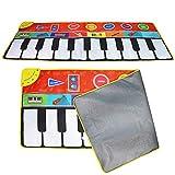ZSHXF Musical Teppich, Baby Musical Piano Spielteppich Matte Musikinstrument Spielzeug Touch Spiel Keyboard Gym Play Mat für Kinder spielteppich gro Tanzmatten Klaviermatte(148cm*60cm)
