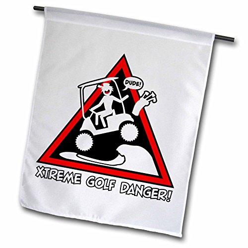3dRose FL_111022_1 Xtreme Golf Gefahrenschild eines Stickmans, 30,5 x 45,7 cm - Lg Golf Shirt