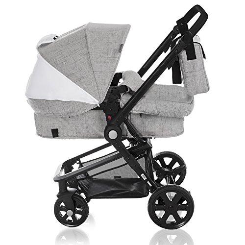 Kinderkraft KRAFT 6 Kombikinderwagen Kinderwagen Kinderkarre Babyschale 3in1 Set (Grau)