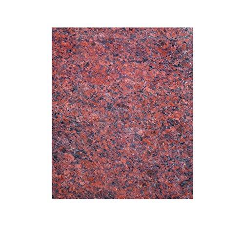 Große Arbeitsplatte Küchenplatte Servierplatte aus rot poliertem Granit mit Design, Unikat Handarbeit 60 x 48 x 1,5 cm - Rote Granit-arbeitsplatte
