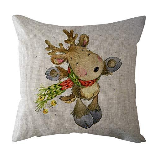 Federa cuscino, feixiang federa cuscino stampa digitale federe 45x45 cm in lino cuscini per divani cuscino di natale decorazioni per la casa cuscino