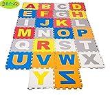 BabyGo Eva Educational Alphabets ABC Puzzle Foam Interlocking Floor Mats PlayMats – 26 Pieces (25Cm By 25Cm Each Block) For Kids / Children