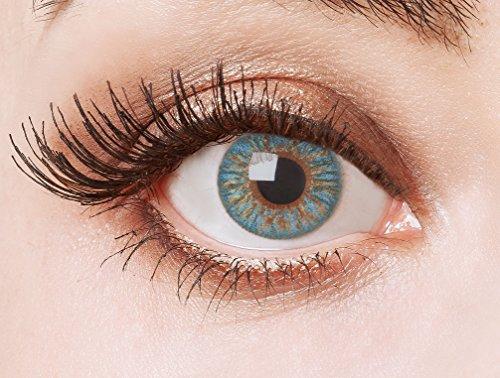 aricona Farblinsen blaue Kontaktlinsen – natürliche Jahreslinsen für den Alltag, bunte farbige Linsen für helle Augenfarben