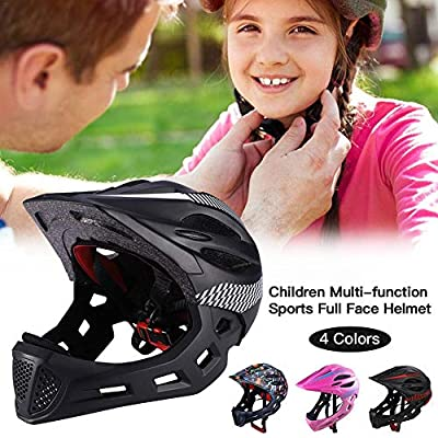 Ritapreaty Childrens Safety Helmet Multi-function Sports Full Face Helmet with Taillights for Cycling and Skating for Toddler and Youth Ages 3-12 Year Old Girls/Boys from Ritapreaty