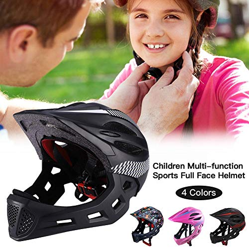 Ritapreaty Childrens Safety Helmet Multi-function Sports Full Face Helmet with Taillights for Cycling and Skating for Toddler and Youth Ages 3-12 Year Old Girls//Boys