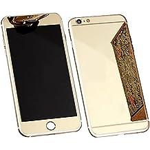 """iPhone 6 Plus Pellicola Protettiva Specchio - Aohro Premium 9H Fronte e Retro Screen Protector Pellicola Protettiva Ultra resistente in Vetro Temperato per iPhone 6 Plus /6S Plus 5.5"""" pollice, Oro"""