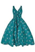 Ladies Vintage Swing Retro 50s Rockabilly Bambi Deer Print Party Dress