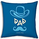Fathers Day Gift Blue Dad I Love You 12x...