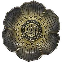 MyLifeUNIT bronzener Lotus-Räucherstäbchenhalter, Mehrzweck-Räuchergefäß für Räucherstäbchen, -kegel oder -spulen preisvergleich bei billige-tabletten.eu