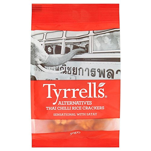 Tyrrells Thai Chilli riz craquelins (50g) - Paquet de 2