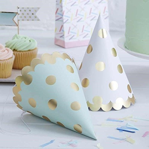 (Pick and Mix - Gold Foiled Polka Dot Party Hats)