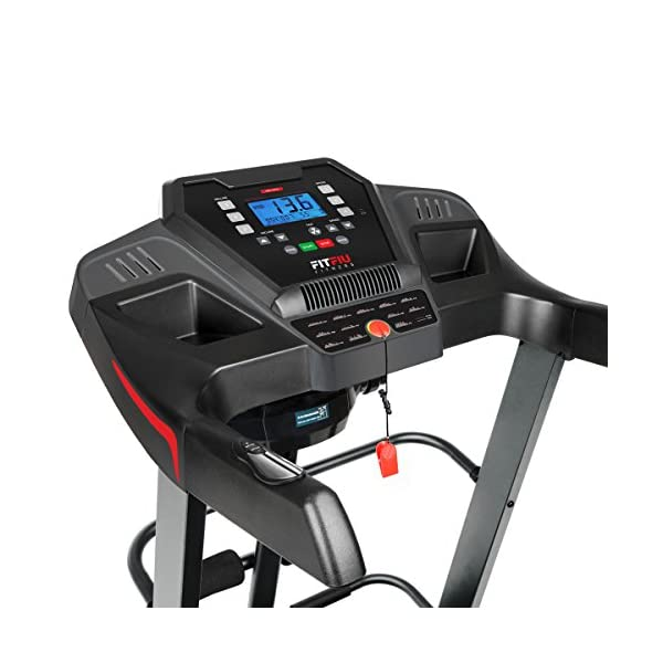 FITFIU Fitness MC-500 - Tapis roulant pieghevole inclinazione automatica, display LCD e cardiofrequenzimetro, Motore… 3 spesavip