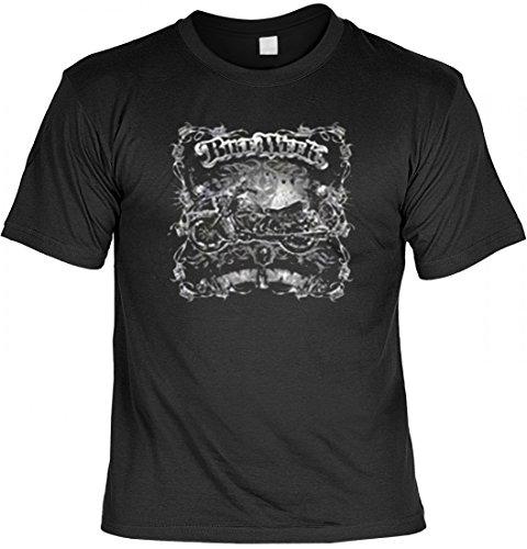 T-Shirt - Bike Week - bedrucktes Motivshirt als originelle Idee für USA Biker und Motorrad-Fahrer, Größe:4XL -