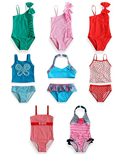Vaenait Baby Kinder Maedchen One Piece Tankini Badeanzug Aloha Pink 2T (Badeanzug 2t)