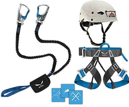 Klettersteigset Salewa Premium Attac 2014 + Gurt Via Ferrata Evo + Helm Stubai Fuse Light