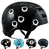 Skullcap® BMX Helm ☢ Skaterhelm ☢ Fahrradhelm ☢, Helm für Jungen, Größe S, Bullets