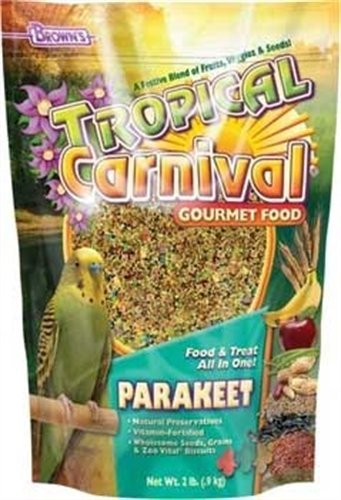 F.M. Brown's Tropical Carnival Gourmet Parakeet Bird Food, 20-Pound by F.M. Brown's (Food Brown M F Bird)