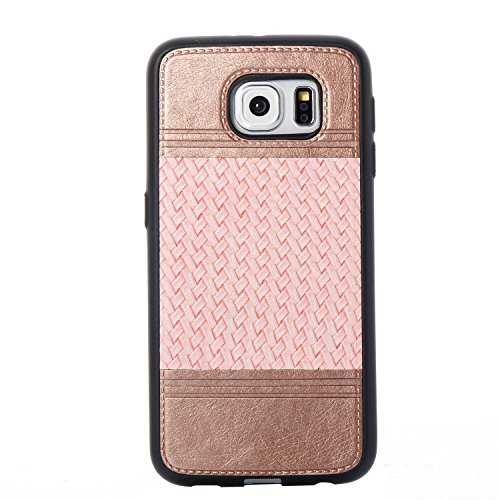 Qiaogle Téléphone Coque - Soft TPU Silicone Housse Coque Etui Case Cover pour Apple iPhone 6 / iPhone 6S (4.7 Pouce) - YB59 / Violet + Noir YB68 / D'or + Pink
