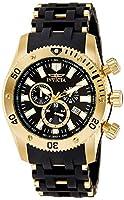 INVICTA 140 - Reloj de cuarzo para hombre, con correa de plástico, color negro de INVICTA