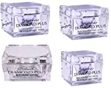 Shahnaz Hussain Diamond Plus Facial Kit (1 Diamond Plus Rehydrant Lotion 40g, 1 Diamond Plus Skin Rejuvenating Mask 50g, 1 Diamond Plus Exfoliating Scrub 40g & 1 Diamond Plus Skin Nourishing Cream 40g (Pack of 4) with Ayur Product in Combo
