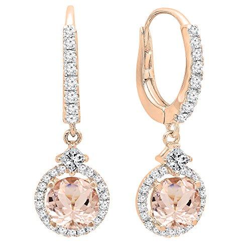 DazzlingRock Collection Femme 10K Or Jaune Rubis et Blanc Diamant 5 Pierre de fiançailles Bague de Mariage avec bandee Ensemble (10)