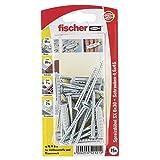 Fischer 052121 Spreizdübel GKS K SB-Karte, Inhalt Dübel SX 6 x 30, 15 x Holzschraube 4,5 x 40