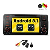 Freeauto für BMW E46/320/325 Quad Core 17,8 cm (7 Zoll) Android 8.1 Autoradio mit Multi-Touch-Bildschirm CD-/DVD-Player GPS Video-Bildschirm OBD2 Wifi