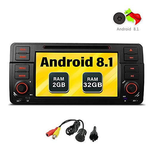 Freeauto per BMW E46/320/325 Quad Core 17,8 cm Android 8.1 autoradio schermo multi-touch radio CD DVD Player GPS video Screen mirroring OBD2
