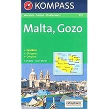 Malte et Gozo Carte de randonnées 1:25.000 KOMPASS N ° 235