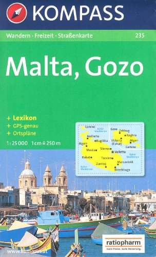Malte et Gozo Carte de randonnées 1:25.000 KOMPASS N ° 235 par KOMPASSMaps