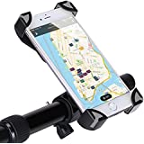 GHB Soporte de Móvil para Bicicleta Motocicleta Universal para Smartphone/ Iphone 7/ Iphone 7 Plus/ Iphone 6/ Iphone 6 Plus/ Dispositivos GPS etc [Color-Negro y Gris]