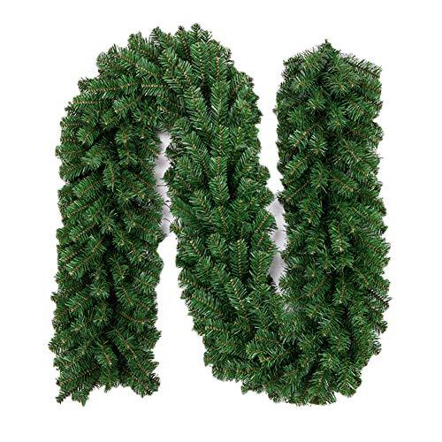 Kentop Tannengirlande Künstliche Grün Tannen Weihnachtsgirlande DIY Dekogirlande 2.7M Weihnachtsdeko für Innen und Außen