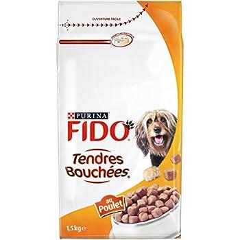 Fido Croquettes pour chien adulte Poulet 1,5 kg - Lot de 6 (9 kg)