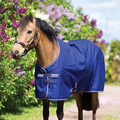 Horseware Amigo Hero 900 Pony Turnout Medium 200g - Atlantic Blue/Ivory